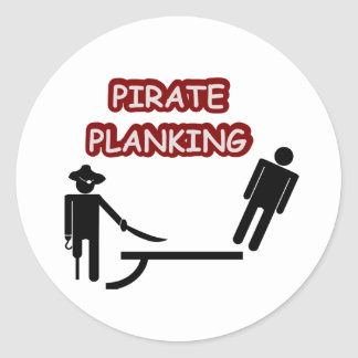 Tablaje del pirata pegatina redonda