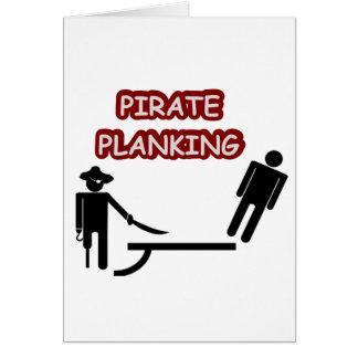 Tablaje del pirata tarjeta de felicitación