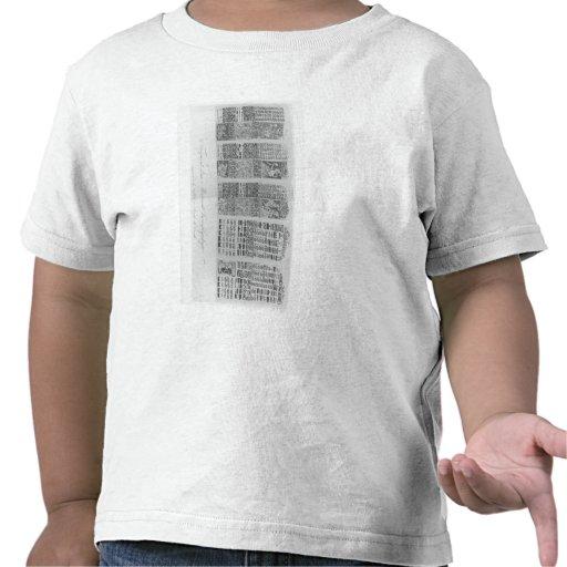 Tablas astronómicas mayas con los eclipses camiseta