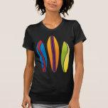Tablas hawaianas coloridas camiseta