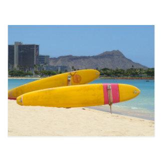 Tablas hawaianas de Moana del Ala Tarjeta Postal