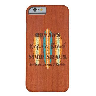 Tablas hawaianas del Hawaiian del monograma del Funda De iPhone 6 Barely There