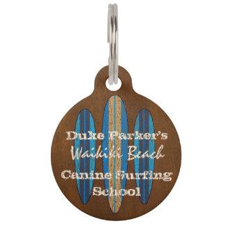 Tablas hawaianas del Hawaiian del monograma del Placa Para Mascotas