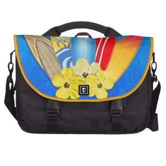 Tablas hawaianas e hibisco bolsas de ordenador