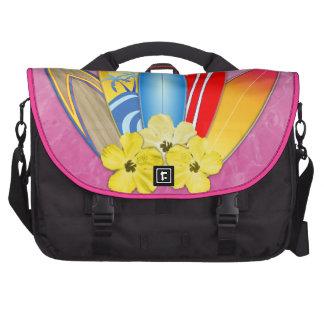 Tablas hawaianas e hibisco bolsas de portátil
