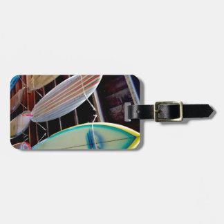 Tablas hawaianas etiqueta de maleta