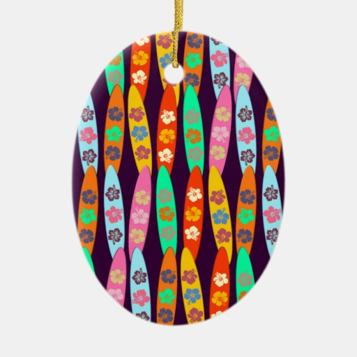 Tablas hawaianas florecidas ornaments para arbol de navidad
