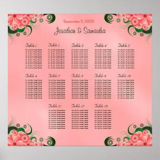 Tablas rosadas del hibisco DIY 13 que casan la Impresiones