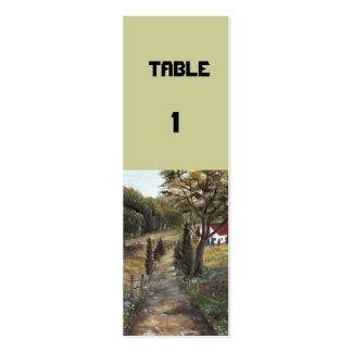 TABLE 1 MINI BUSINESS CARD