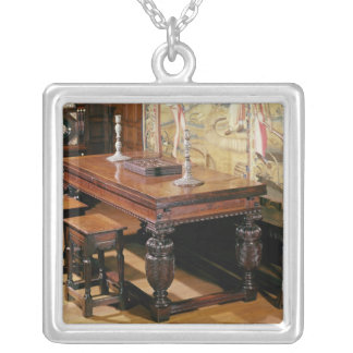 Table and chairs, known as Bromley-by-Bow Silver Plated Necklace