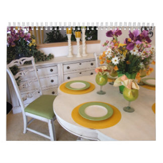 Table and Place Settings Calendar