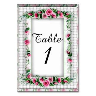 "TABLE CARD 2 FLOWERS  3.5"" x 5"" Ultra-Thick Paper"