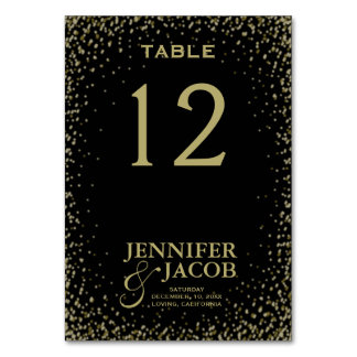 Table Card   Black and Gold
