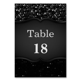 Table Card Crystal Bling Strass