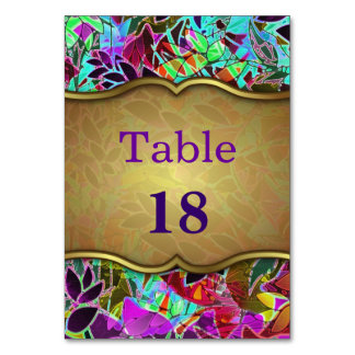 Table Card Floral Abstract Artwork