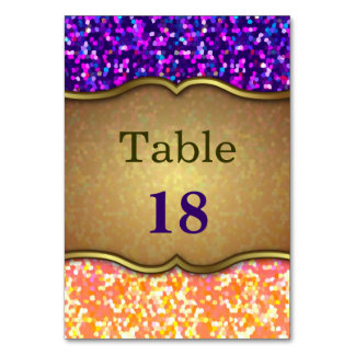 Table Card Glitter Graphic