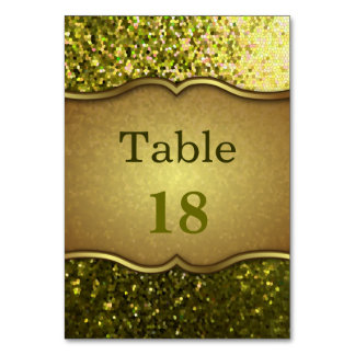 Table Card Gold Mosaic Sparkley Texture
