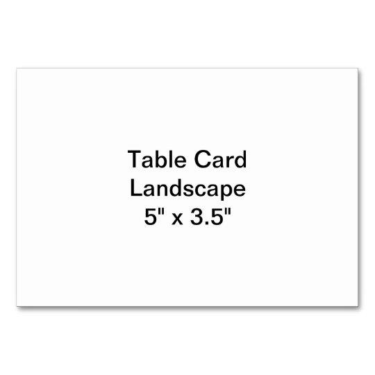 "Horizontal 3.5"" x 5"" Tablecard, Basic"