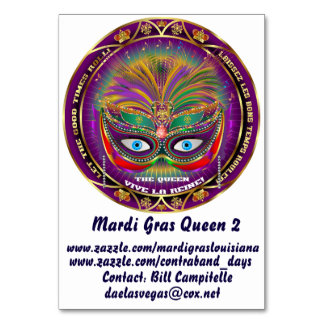 Table Card Mardi Gras