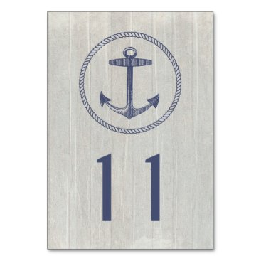 Beach Themed Table Card | Nautical Weathered Wood