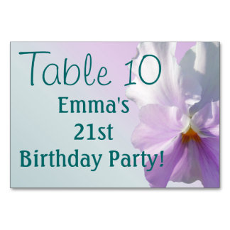 Table Card - Ruffled Pink Pansy