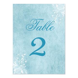 "TABLE CARDS LRG - WEDDING BLUE ELEGANCE COLLECTION 6.5"" X 8.75"" INVITATION CARD"