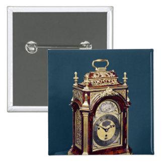 Table clock, c.1750 pinback button
