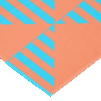 Table Cloth, Blueu0026amp;Orange Colored Triangle Design Tablecloth