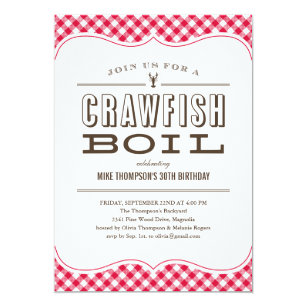 Louisiana Crawfish Boil Invitations Zazzle