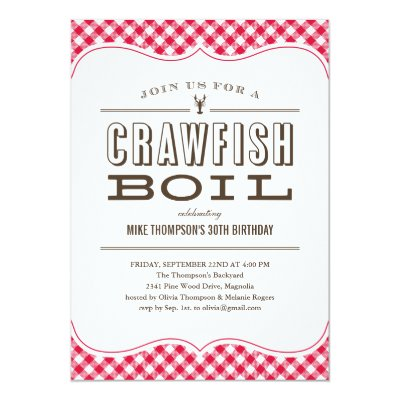 crawfish boil summer party invitation template Zazzlecom