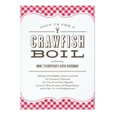 crawfish boil summer party invitation template Zazzlecom