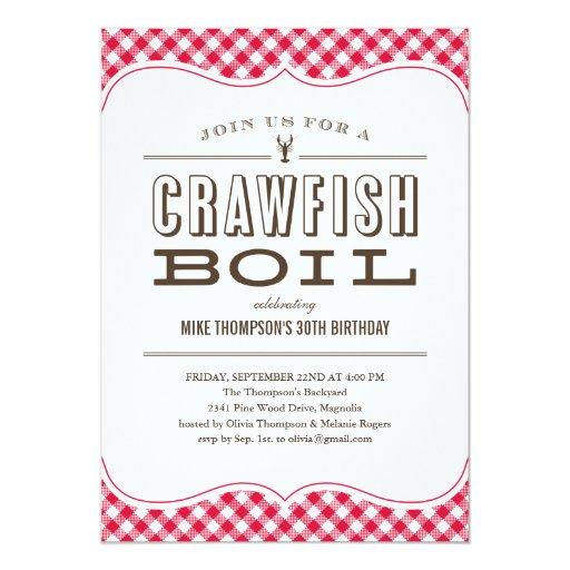 Table Cloth Crawfish Boil Invitations Zazzle
