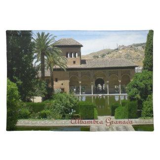 table cloth landscape Alhambra Granada Placemat