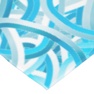 Table Cloth with Turquoise Tangle Ball Design