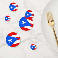 Table confetti with flag of Puerto Rico