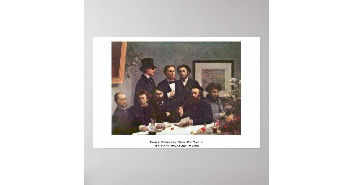 Table corner coin de table by fantin latour henri poster - Un coin de table fantin latour ...