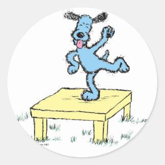 table dance classic round sticker