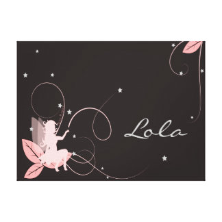 Table fairy for room of little girl canvas prints