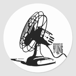 Table Fan Classic Round Sticker