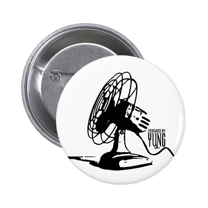 Table Fan Pinback Button