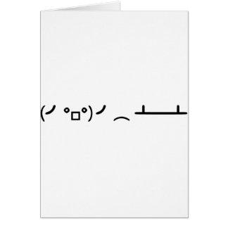 Table Flip Flipping Ascii Emoticon Card