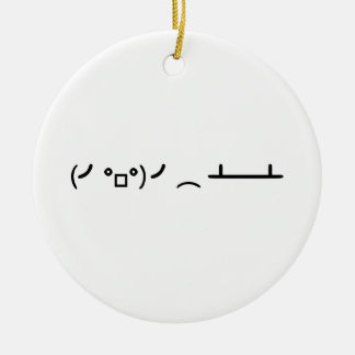 Table Flip Flipping Ascii Emoticon Ceramic Ornament