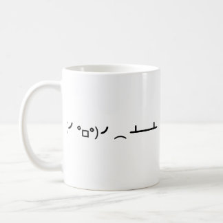 Table Flip Flipping Ascii Emoticon Coffee Mug
