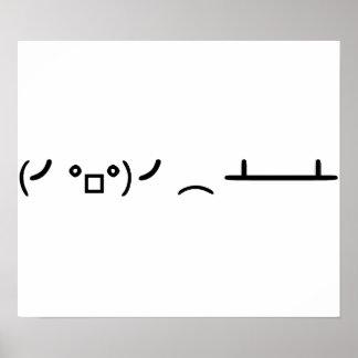 Table Flip Flipping Ascii Emoticon Poster