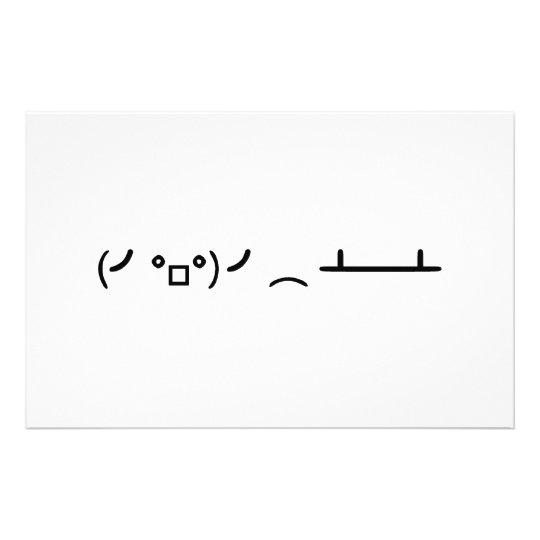 Table Flip Flipping Ascii Emoticon