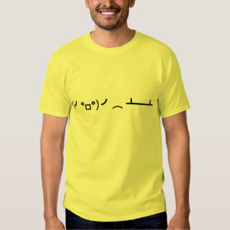 Table Flip Flipping Ascii Emoticon T Shirt