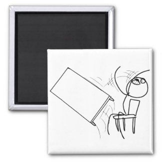 Table Flip Flipping Rage Face Meme 2 Inch Square Magnet