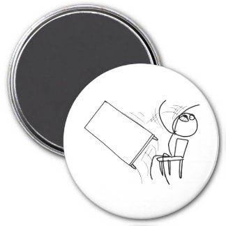 Table Flip Flipping Rage Face Meme 3 Inch Round Magnet