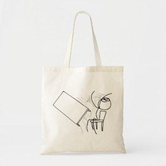 Table Flip Flipping Rage Face Meme Budget Tote Bag