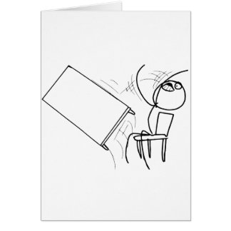 Table Flip Flipping Rage Face Meme Card